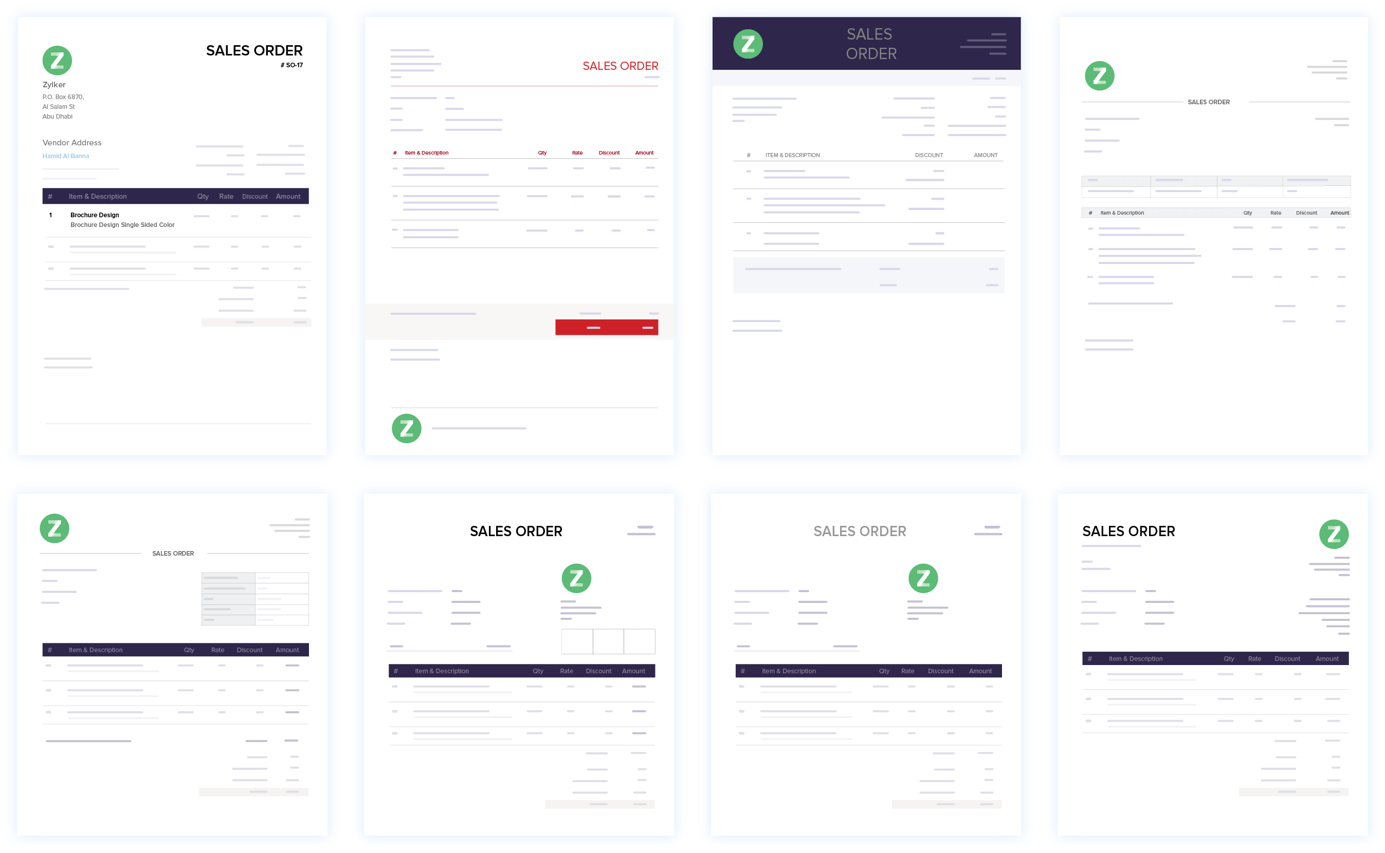 Sales Order Customization - Online Sales Order System   Zoho Books