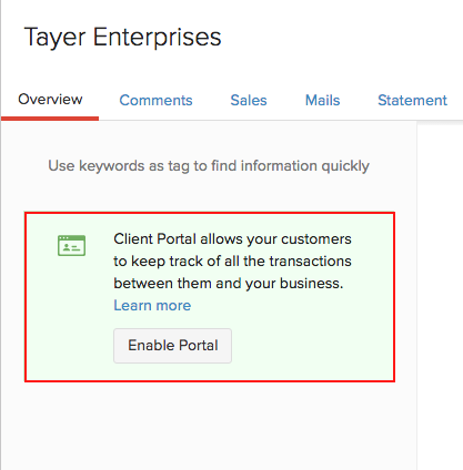 Enable Client Portal For Review