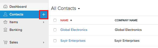 Quick add contact