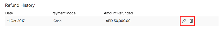 Editing or Deleting refund