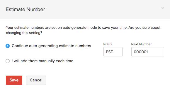 Esitmate number in Estimate