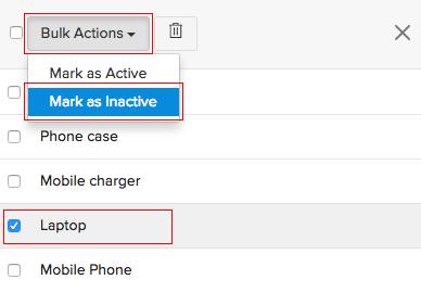 Mark Item Inactive