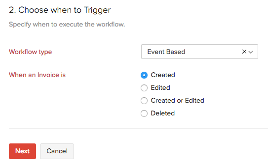 When to Trigger workflow