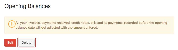 Delete Opening Balances