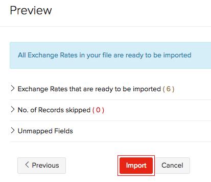 Exchange rates - Import
