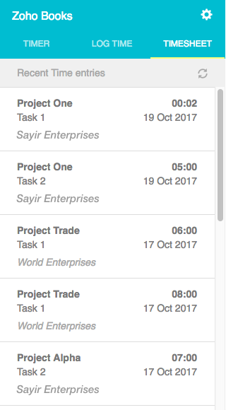 Timesheet Ext