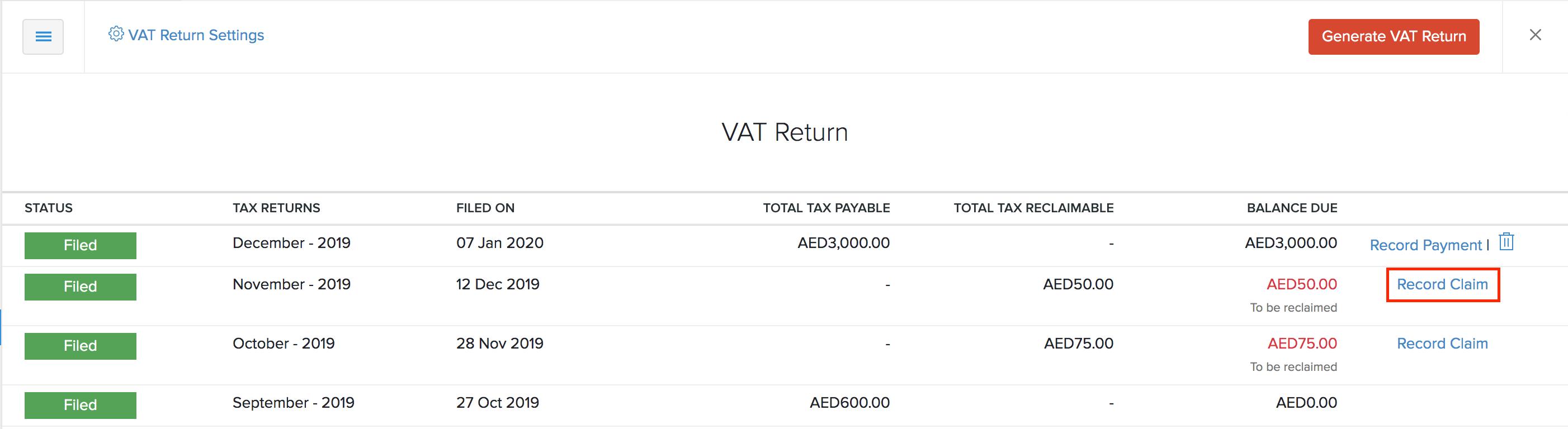 Tax Claim