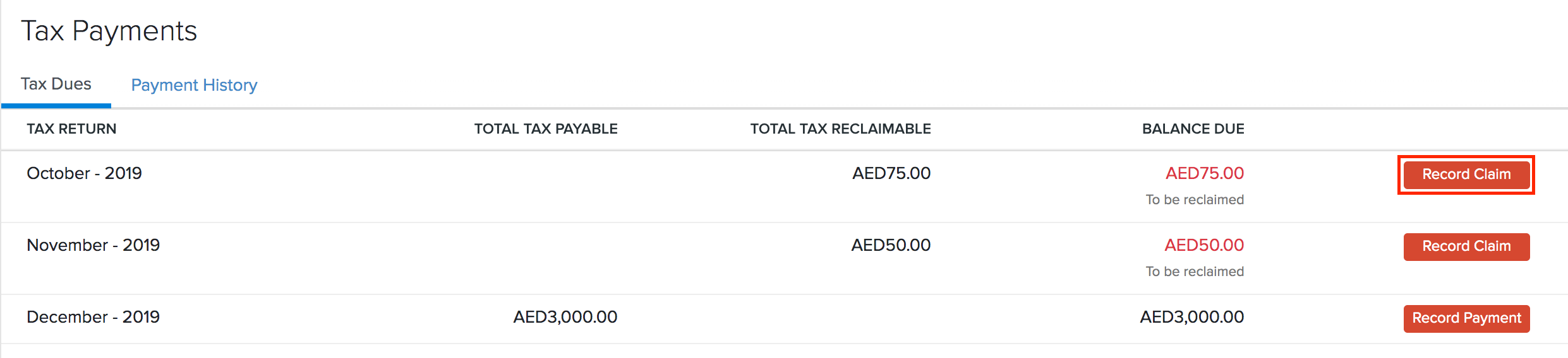Tax Claim-Accountant