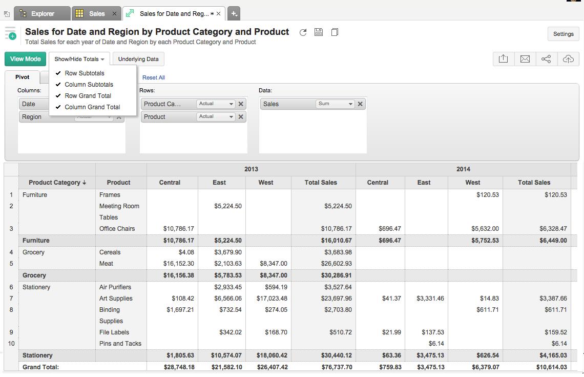 Customizing pivot table for Qlikview table design