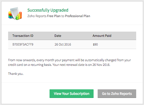 how to cancel zoho subscription