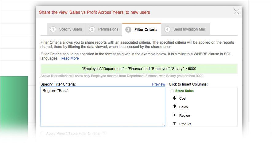 Filter Criteria
