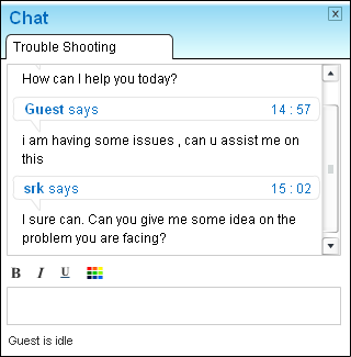 Remote support with instant messaging