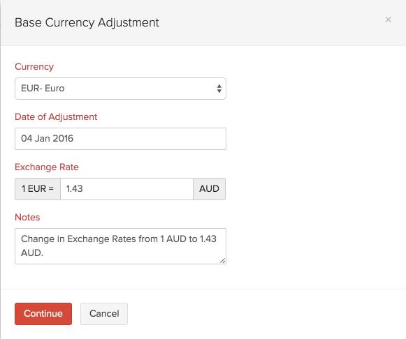 Base Currency Adjustments