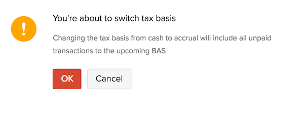 Tax Basis Warning