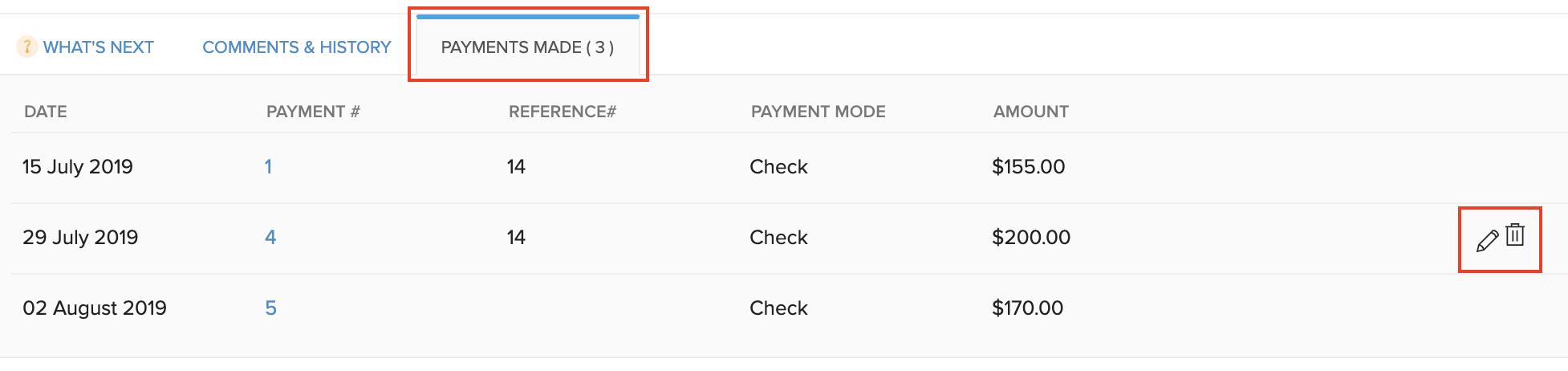 Delete Applied Credits