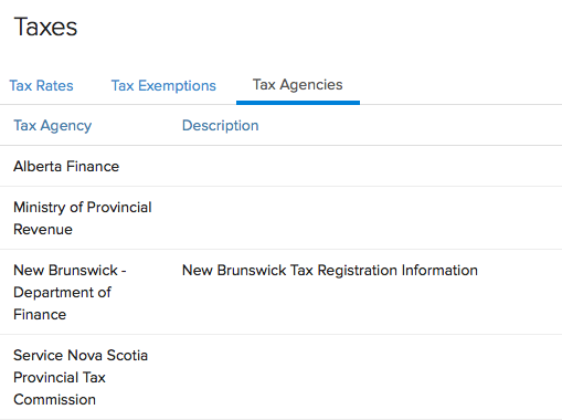 New Canada Tax Agency