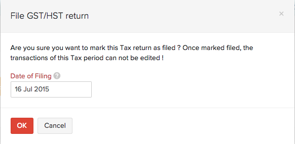 File GST/HST Return