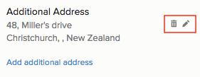 Add address to transaction