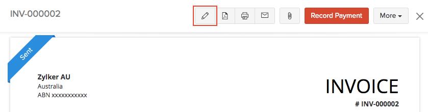 Edit Invoice