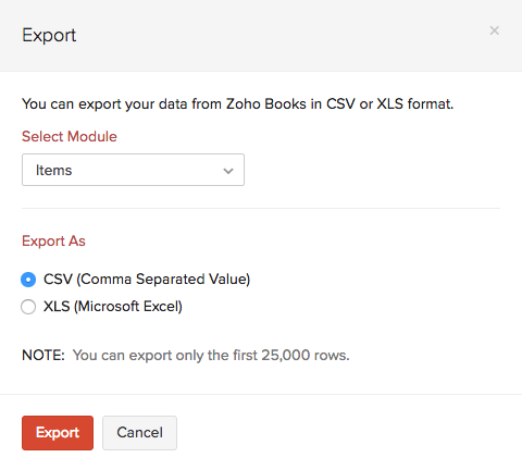 Item Export