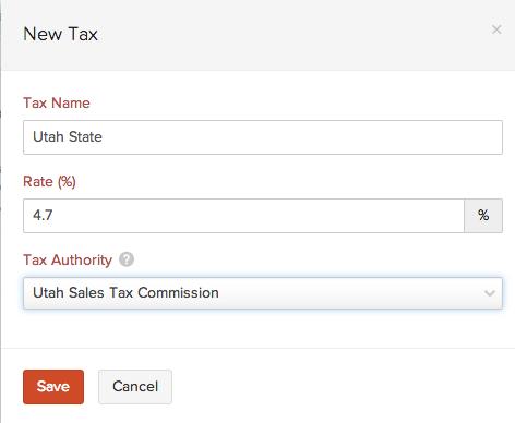 Create a new tax