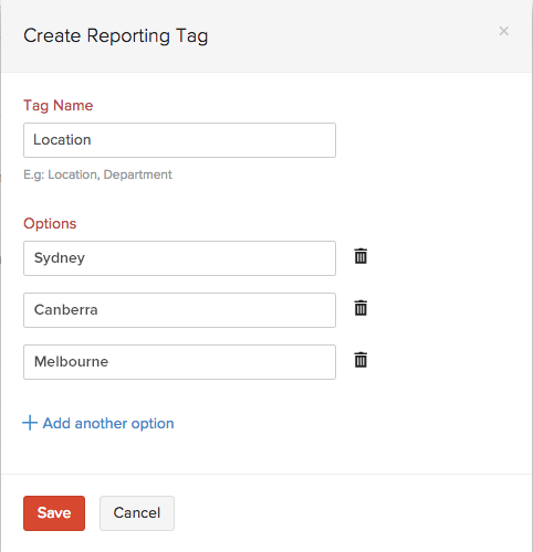 New Reporting Tag
