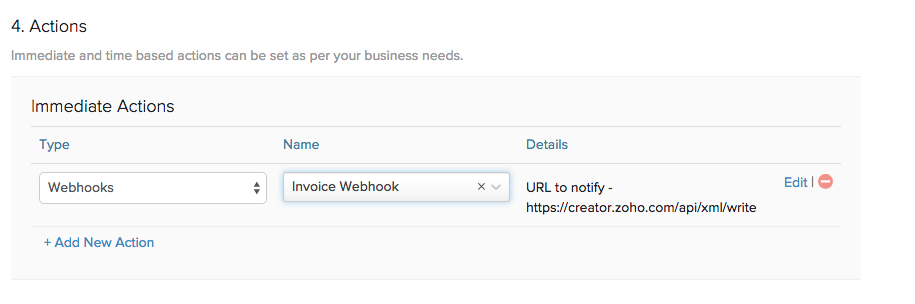 Webhooks Creator Action