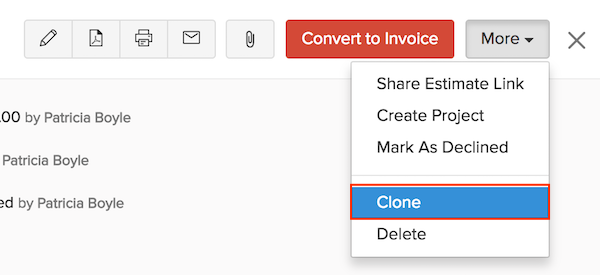 Clone an Estimate