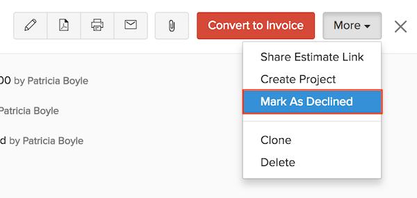 Mark an estimate as accepted
