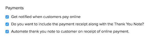Payment Invoice Preferences