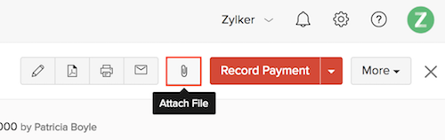 Attaching Files to an invoice