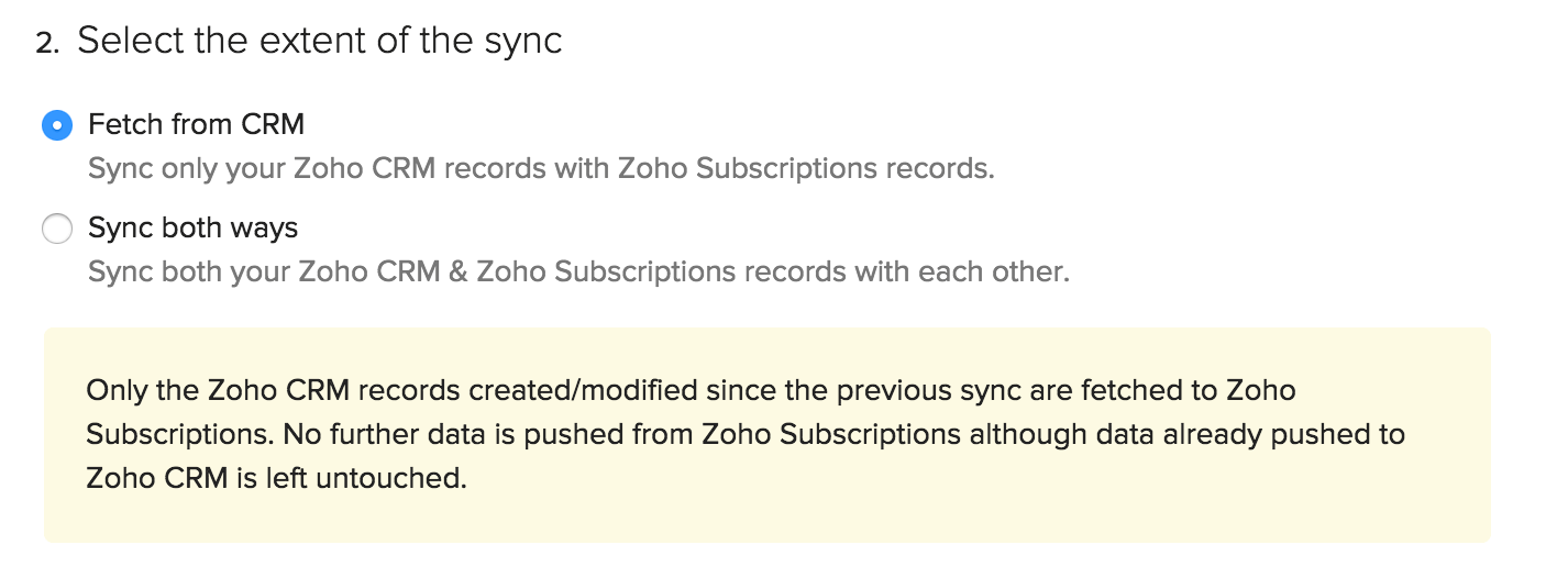 Extent of the sync
