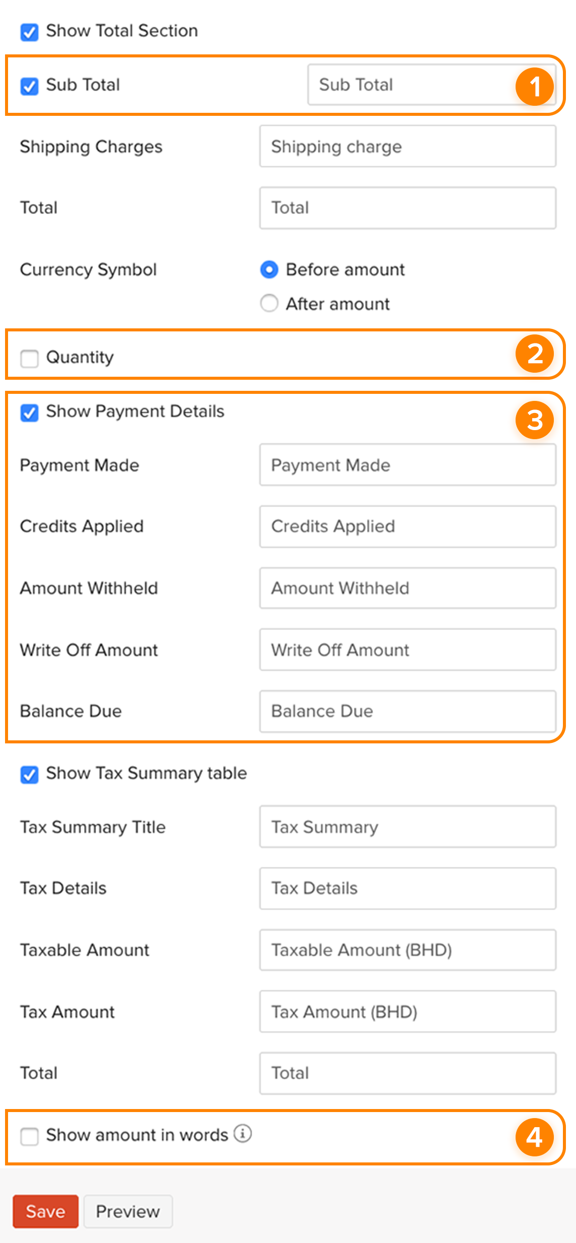 Template Invoices