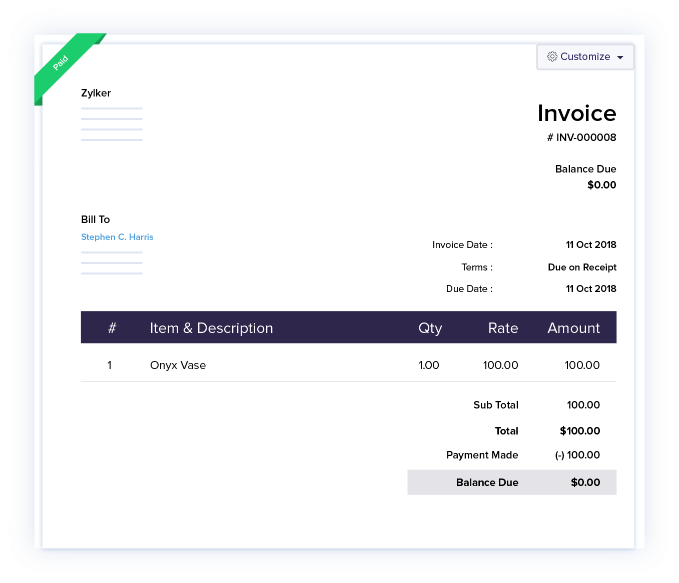 Track payments with ease