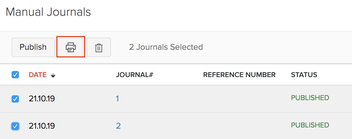 Bulk Print Journals