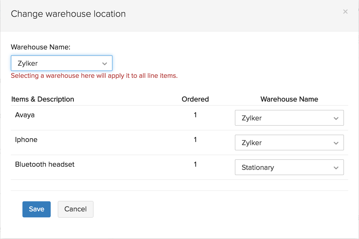 Select Warehouse