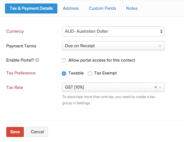 Associate Tax for Contact