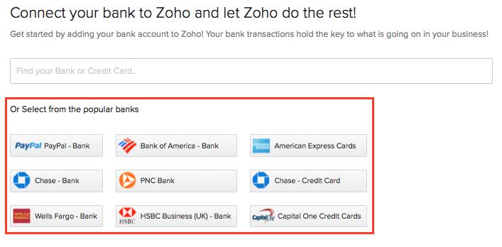 Banking | Help | Zoho Books