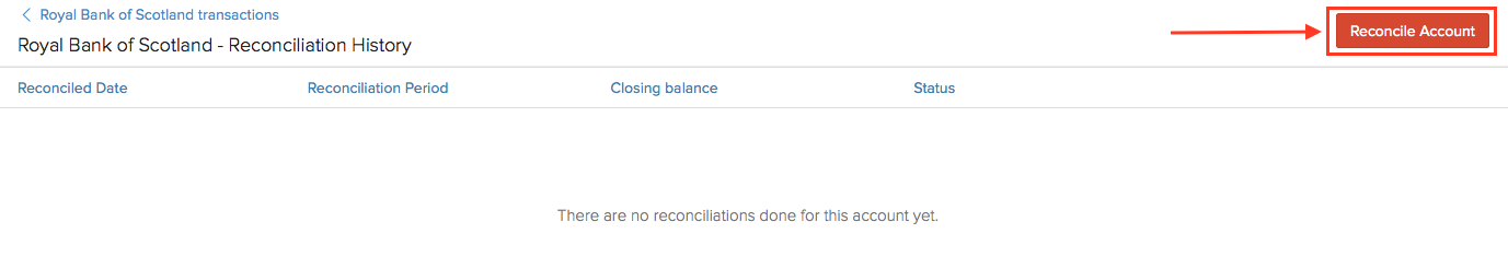 Reconcile Account