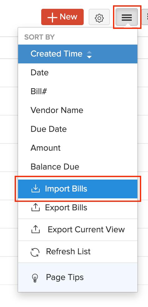 Import Bills