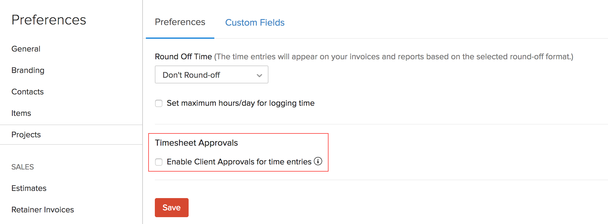 Other Actions in Client Approvals