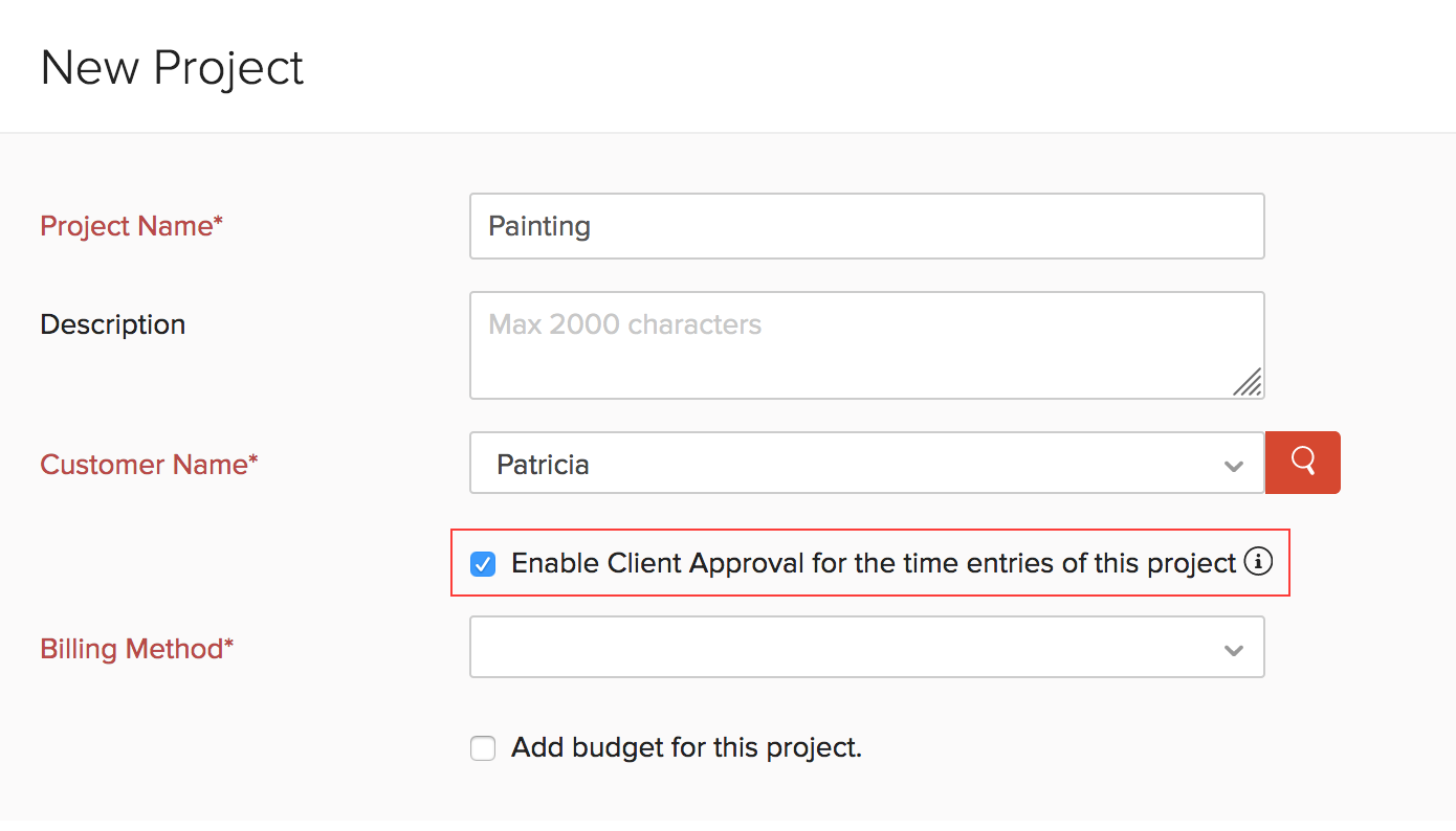 Create Client Approval