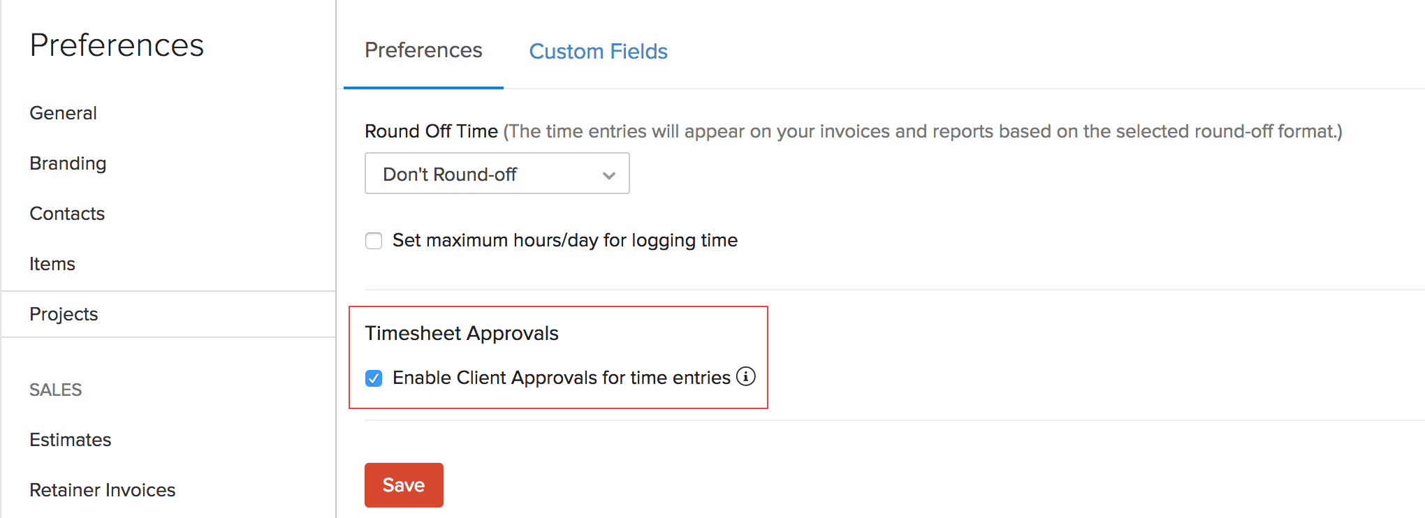 Enable Client Approval