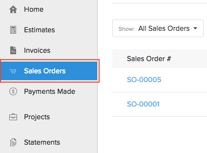 View Sales Orders