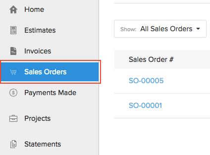 View Sales Orders