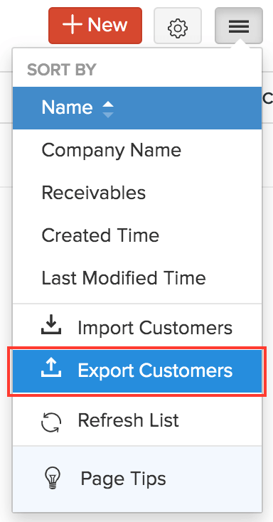 Export Customers/Vendors