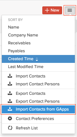 Import contacts from GApps
