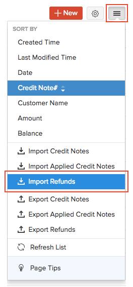 Import Refunds