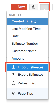 Import Estimates