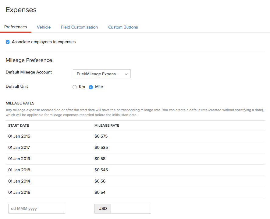 Expense Preferences